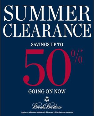 Brooks Brothers Summer Clearance Event