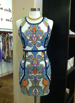 House of Sage printed bodycon dress