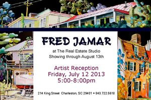 Artist Fred Jamar at the Real Estate Studio