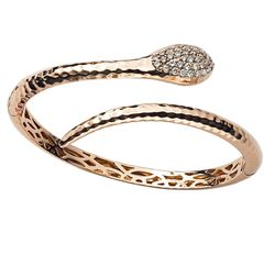 Roberto Coin Rose Gold Cognac Diamond Bangle