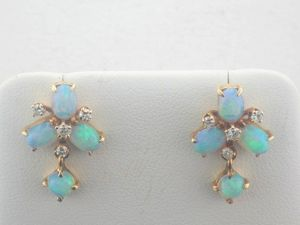 Opal Earrings at Joint Venture Estate Jewelers