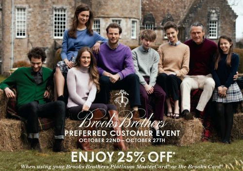 Brooks Brothers Preferred Customer Event October