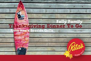 Thanksgiving Dinner on Folly Beach from Rita's Seaside Grille