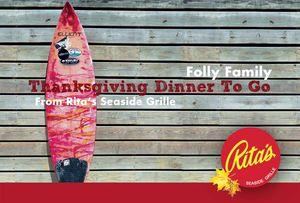 Thanksgiving Dinner on Folly Beach from Rita's Seaside Grille