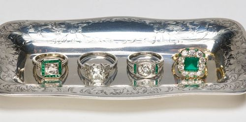Croghans Jewel Box Emerald Diamond Rings.htm