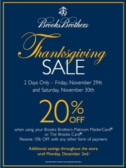 Brooks Brothers Thanksgiving Sale