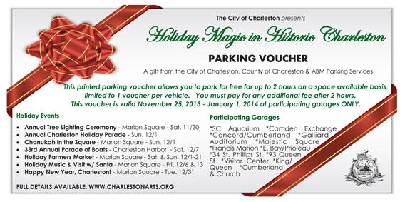 Charleston Holiday Parking Voucher 2013