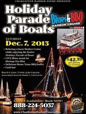 Holiday Parade of Boats Charleston Harbor Tours