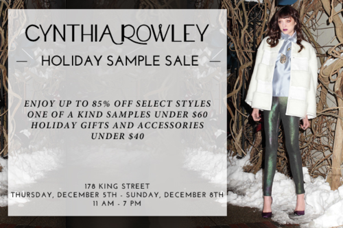 Cynthia Rowley Holiday Sample Sale