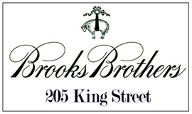 Brooks Brothers is located at 205 King Street.