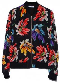 Floral Abbott Bomber by Equipment
