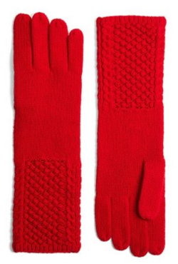 Cable Knit Cashmere and Wool Gloves Brooks Brothers
