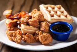 Kickin Chicken Chicken and Waffles