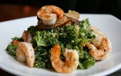 Shrimp Kale Salad at Carolina's Bistro