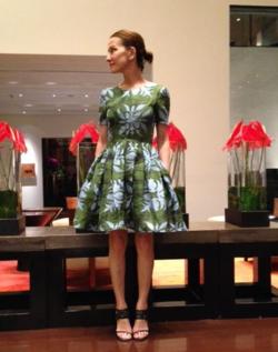 Cynthia Rowley Hawaiian Quilt Short Sleeve Dress
