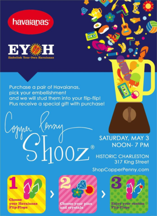 Havaianas Trunk Show at Copper Penny Shooz