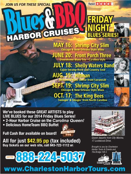Charleston Harbor Tours Friday Blues BBQ Cruises