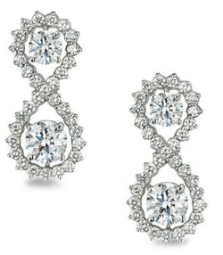 Forevermark Infinity Earrings