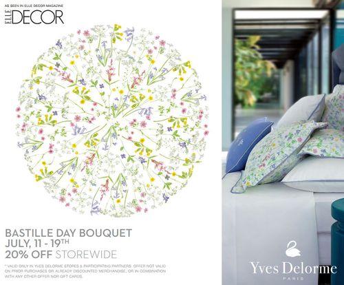 Yves Delorme Bastille Day Sale