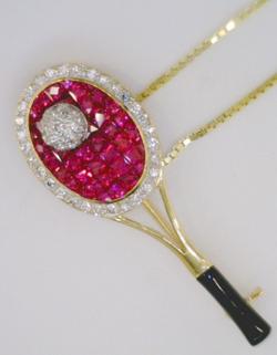 Ruby and Diamond Tennis Racket