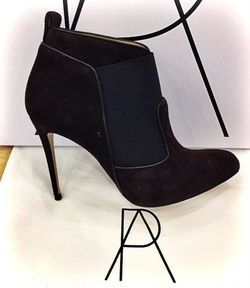 Paul Andrew Beaufort Suede Booties
