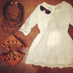 House of Sage White Dress