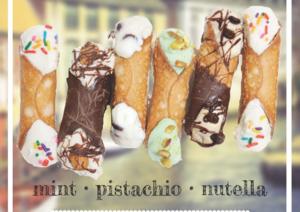 Paolo's Gelato Summer Cannoli Flavors