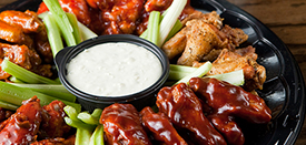 You have to try the Wings at Kickin' Chicken