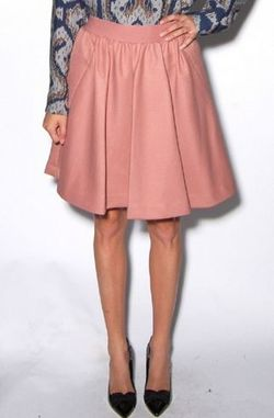 Zosima Blush Pink Circle Skirt