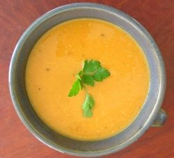 Honey Curry Sweet Potato Soup