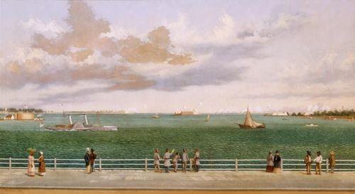 Bombardement of Fort Sumter by William Aiken Walker