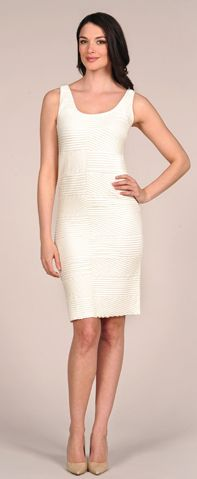 TINA Stephens Textured Tank Dress