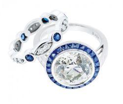 Joint Venture Sapphire Diamond Engagement Ring