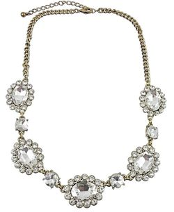 HandPicked Crystal Oval Statement Necklace