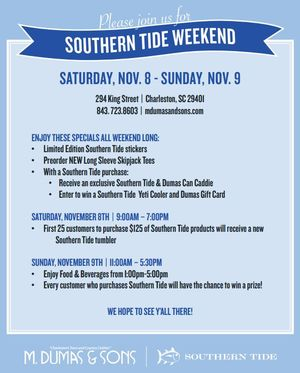 Southern Tide Weekend