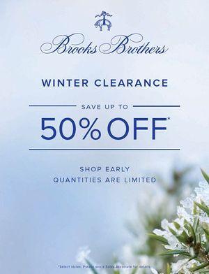 Brooks Brothers Winter Sale