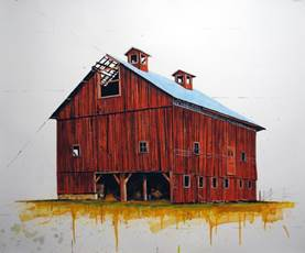 Woodberry Red Barn by William Dunlap