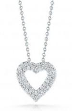 Roberto Coin Tiny Treasures Diamond Double Heart Necklace