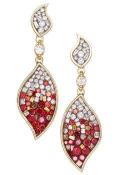 Pleve Raspberry Ombre Flame Earrings