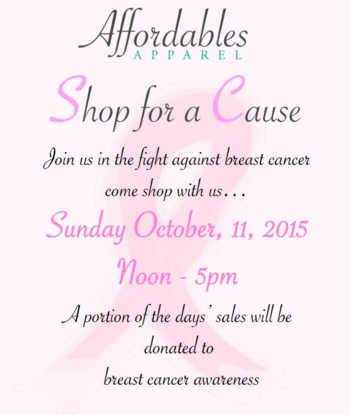 Affordables Apparel Shop for a Cause