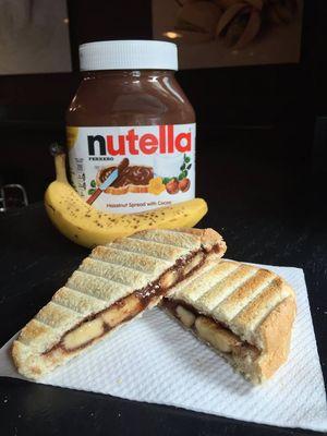 Belgian Gelato Banana Nutella Toasti