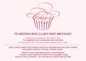 Brown Box Club First Birthday