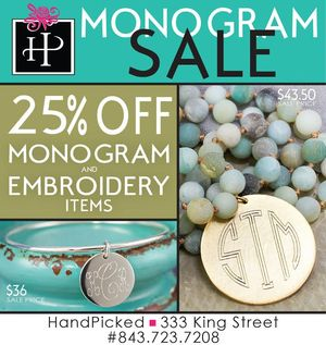 HandPicked Monogram Sale