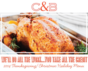 C&B Thanksgiving/Chrismas Menu