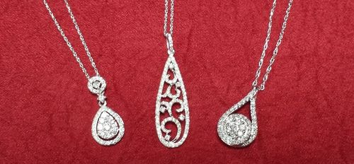 Diamond Raindrop Necklaces