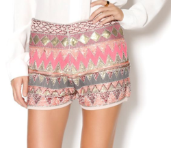 Esley Sable Sequin Shorts