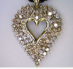 Joint Venture Estate Jewelers Heart Pendant
