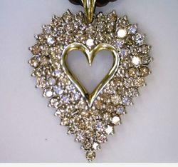 Joint Venture Estate Jewelers Heart Pendant