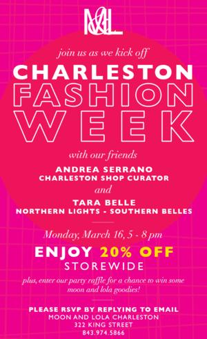 Moon and Lola Charleston Fashion Week Party