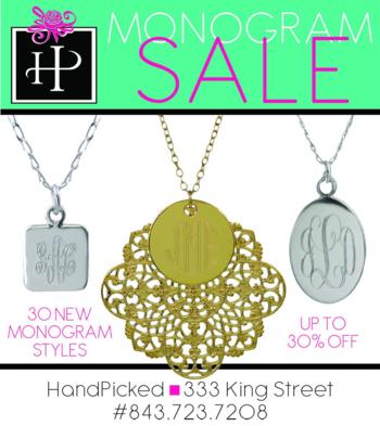 HandPicked Monogram Sale
